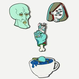 New 4 Pc Zombie Brooch Set